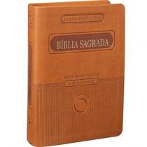 Bíblia Sagrada Ra Com Letra Grande Marrom - Sbb