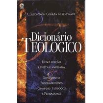 Dicionário Teológico Claudionor Correa Livro Cpad