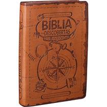 Bíblia Das Descobertas Para Adolescentes Marrom Frete Grátis