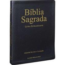 Bíblia Sagrada Letra Extra Gigante Revista E Corrigida