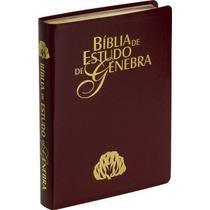 Bíblia De Estudo Genebra - Revista E Atualizada - Luxo Vinho