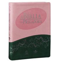 A Bíblia Da Pregadora Ra (estudos) Rosa E Verde Melhor Preço