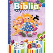Bíblia Turminha Da Graça - Meninas - Capa Almofadada