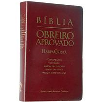 Bíblia Do Obreiro Aprovado Média Luxo Vinho Rc - Com Harpa