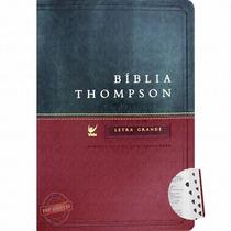 Bíblia Thompson Aec Letra Grande Cor Vinho E Verde + Indice