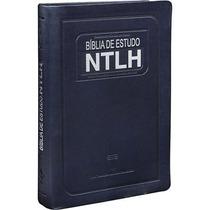 Bíblia De Estudo Ntlh Grande Azul Com Concordância Bíblica