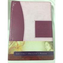 A Bíblia Da Mulher Que Ora Vinho/rosa Frete Grátis