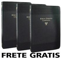 Kit 3 Biblia Judaica Completa Capa Couro Dr David H Stern A5