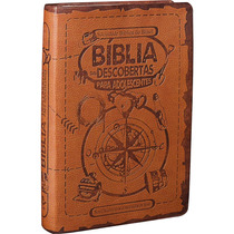 Bíblia Descobertas Adolescentes Couro Sintético Marrom