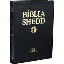 Bíblia De Estudo Shedd Luxo Preta Frete Grátis