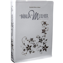 Bíblia Da Mulher Capa Branca Grande. Devocional, Estudo