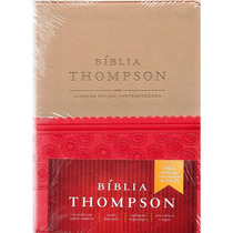 Biblia De Estudo Thompson Vermelha E Bege + Indice + Frete