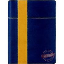 Bíblia De Estudo Thompson - Luxo Azul E Amarela + Indice