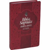Bíblia Feminina Letra Grande Com Harpa Cristã Vermelha Nobre