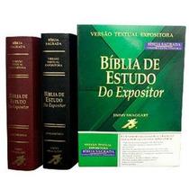 Bíblia De Estudo Do Expositor Kit Com 2 Vinho + Preta + Fret
