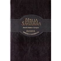 Bíblia Ultrafina Revista E Corrigida Harpa Avivada Preta