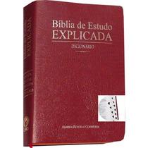 Bíblia De Estudo Explicada Almeida Revista Corrigida Indice
