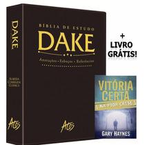 Bíblia De Estudo Dake + Livro Grátis+ Frete Grátis