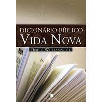 Dicionário Bíblico Vida Nova Derek Williams Frete Grátis