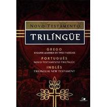 Novo Testamento Trilíngue Grego Port Ing Frete Grátis