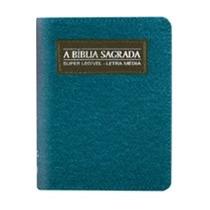 Bíblia Pequena Super Legível Zíper Jeans - Letra Média