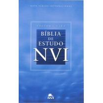 Bíblia De Estudo Nvi - Capa Dura - Grande - Frete Grátis