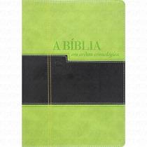 Bíblia Em Ordem Cronológica - Nvi - Preta Verde Luxo