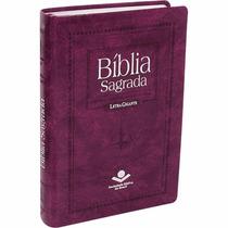 Bíblia Sagrada Feminina Grande Letra Gigante Púrpura Nobre