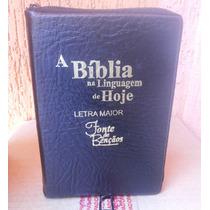 Bíblia Sagrada Nova Tradução Linguagem De Hoje Letra Maior