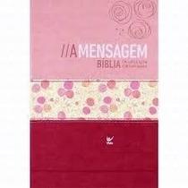 Bíblia A Mensagem Capa Luxo Rosa Frete Grátis