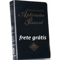 Bíblia De Estudo Aplicação Pessaol Gd Azul-frete Grátis