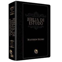 Bíblia De Estudo Mattew Henry Revista E Corrigida Preta