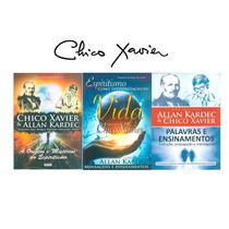 3 Livros Chico Xavier Allan Kardec Espiritismo Editora Geek