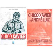 2 Livros Chico Xavier Fronteiras Vida Nosso Lar Caridade