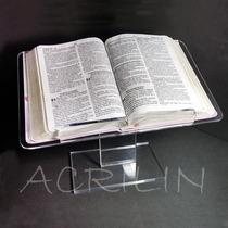 Suporte Expositor Porta Biblia Em Acrilico De 1ª Linha