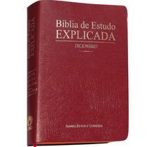 Bíblia De Estudo Explicada C/ Harpa Cristã E Dicionário.