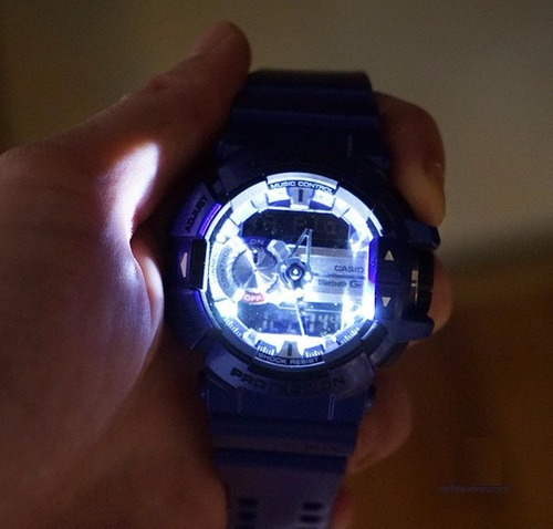 не работает подсветка на часах g shock задней части