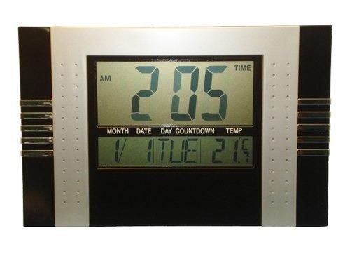 Relógio De Parede E Mesa Digital Termometro Despertador