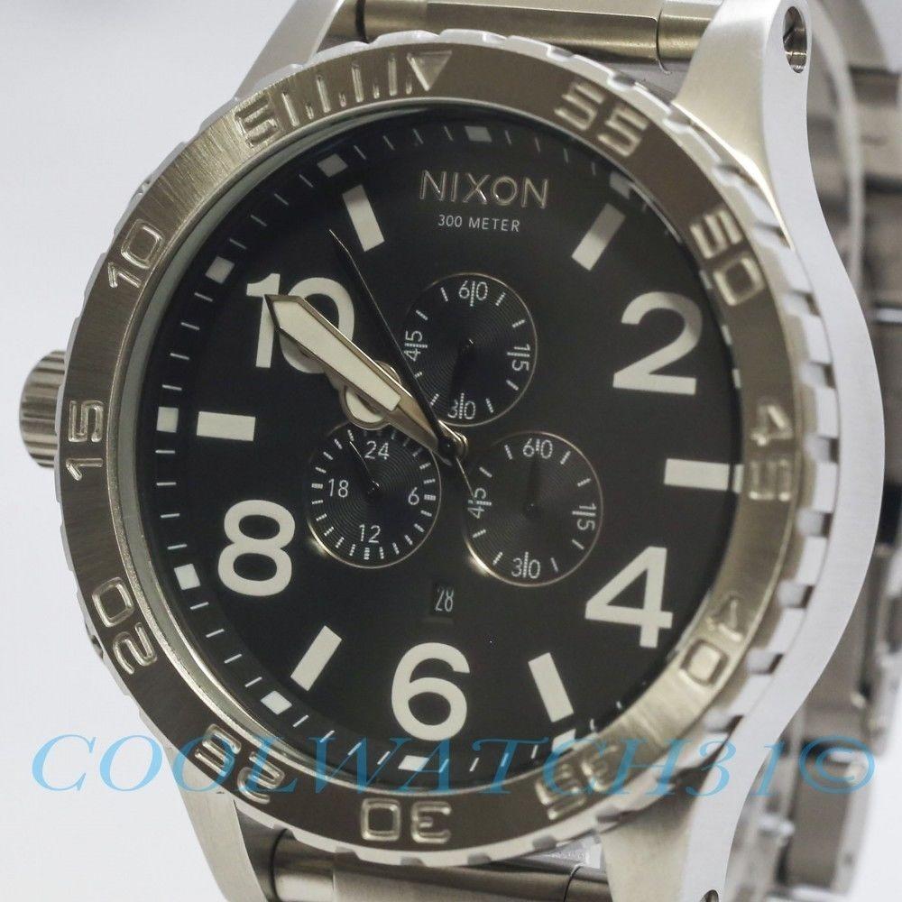 12ac416c875 Relógio Nixon 51 30 Chrono Prata Preto Original Frete