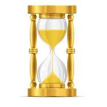 Ampulheta De Madeira - Vidro De Areia - Relógio De Areia