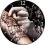 Relógio De Parede Em Vinil, Tatuagem, Tatoo, Taduador