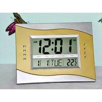 Relógio Digital De Parede E Mesa C/ Termômetro E Despertador