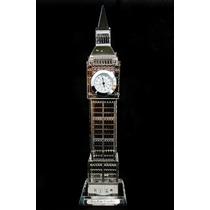 Relógio Big Ben Mesa Londres Decoração Iluminado Casa Sala