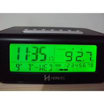 Despertador Digital Rádio Relógio 110/220 Ou 3 Pilhas Herweg