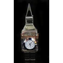 Relógio Mesa Big Ben Decoração Iluminado Casa Sala Londres