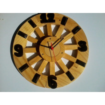 Relógio De Parede Grande (39cm)artesanal Roda De Carroça