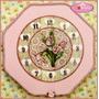 Relógio Decorativo De Parede - Tema Flores