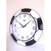 Relógio Parede Mostrador Bola Futebol Copa Time Camisa Gol