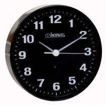 6377 - Relógio De Parede Iluminado Black Piano Preto - 27 Cm