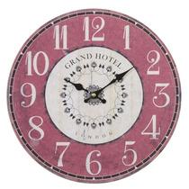Relógio Parede Mdf 34cm Grand Hotel London Decora Vetro #538
